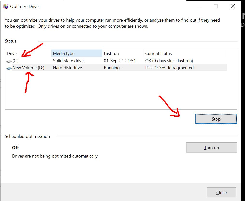 Defragging van je hardeschijf laptop